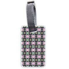 Colorful Pixelation Repeat Pattern Luggage Tags (One Side)