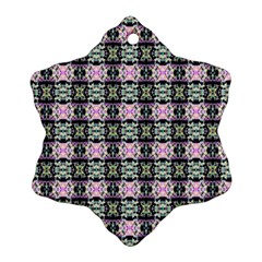 Colorful Pixelation Repeat Pattern Snowflake Ornament (two Sides)