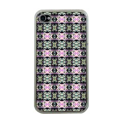 Colorful Pixelation Repeat Pattern Apple Iphone 4 Case (clear)