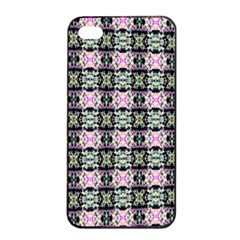Colorful Pixelation Repeat Pattern Apple iPhone 4/4s Seamless Case (Black)