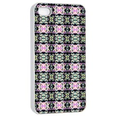 Colorful Pixelation Repeat Pattern Apple Iphone 4/4s Seamless Case (white)