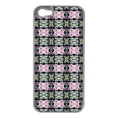 Colorful Pixelation Repeat Pattern Apple Iphone 5 Case (silver)