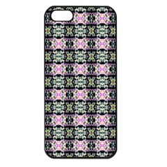 Colorful Pixelation Repeat Pattern Apple Iphone 5 Seamless Case (black)