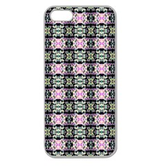 Colorful Pixelation Repeat Pattern Apple Seamless iPhone 5 Case (Clear)