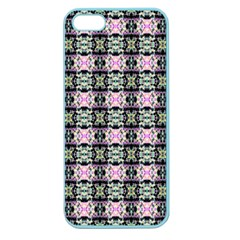 Colorful Pixelation Repeat Pattern Apple Seamless Iphone 5 Case (color)