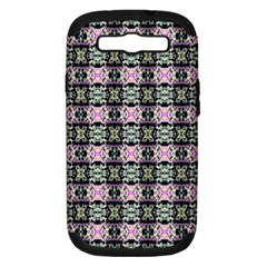 Colorful Pixelation Repeat Pattern Samsung Galaxy S Iii Hardshell Case (pc+silicone)
