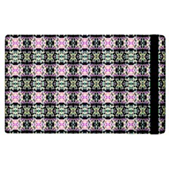 Colorful Pixelation Repeat Pattern Apple Ipad 3/4 Flip Case