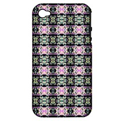 Colorful Pixelation Repeat Pattern Apple iPhone 4/4S Hardshell Case (PC+Silicone)