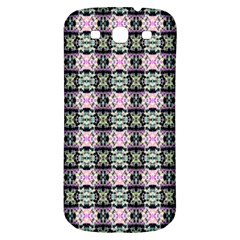 Colorful Pixelation Repeat Pattern Samsung Galaxy S3 S III Classic Hardshell Back Case