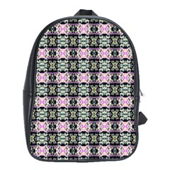 Colorful Pixelation Repeat Pattern School Bags (xl)