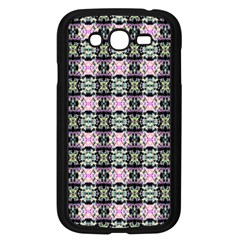 Colorful Pixelation Repeat Pattern Samsung Galaxy Grand DUOS I9082 Case (Black)