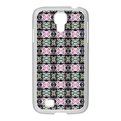 Colorful Pixelation Repeat Pattern Samsung Galaxy S4 I9500/ I9505 Case (white)