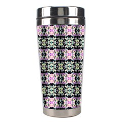 Colorful Pixelation Repeat Pattern Stainless Steel Travel Tumblers