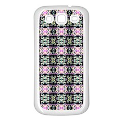 Colorful Pixelation Repeat Pattern Samsung Galaxy S3 Back Case (white)