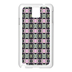 Colorful Pixelation Repeat Pattern Samsung Galaxy Note 3 N9005 Case (White)