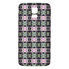 Colorful Pixelation Repeat Pattern Samsung Galaxy S5 Back Case (white)