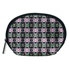 Colorful Pixelation Repeat Pattern Accessory Pouches (Medium)