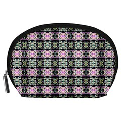 Colorful Pixelation Repeat Pattern Accessory Pouches (large)
