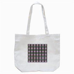 Colorful Pixelation Repeat Pattern Tote Bag (white)