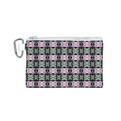 Colorful Pixelation Repeat Pattern Canvas Cosmetic Bag (S)