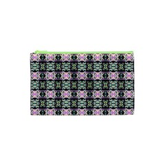 Colorful Pixelation Repeat Pattern Cosmetic Bag (xs)