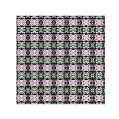 Colorful Pixelation Repeat Pattern Small Satin Scarf (Square)