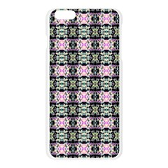 Colorful Pixelation Repeat Pattern Apple Seamless iPhone 6 Plus/6S Plus Case (Transparent)