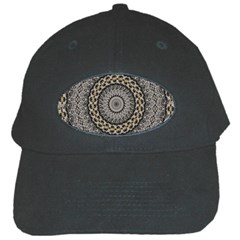 Celestial Pinwheel Of Pattern Texture And Abstract Shapes N Brown Black Cap