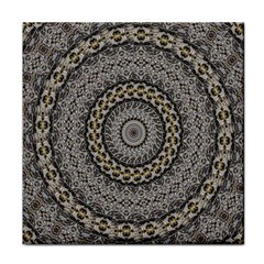 Celestial Pinwheel Of Pattern Texture And Abstract Shapes N Brown Tile Coasters