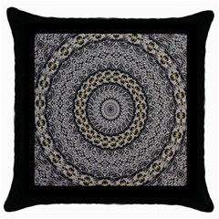 Celestial Pinwheel Of Pattern Texture And Abstract Shapes N Brown Throw Pillow Case (black)