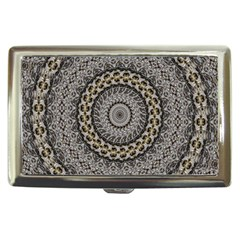 Celestial Pinwheel Of Pattern Texture And Abstract Shapes N Brown Cigarette Money Cases