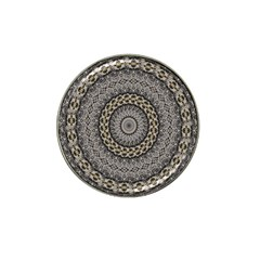 Celestial Pinwheel Of Pattern Texture And Abstract Shapes N Brown Hat Clip Ball Marker (10 Pack)