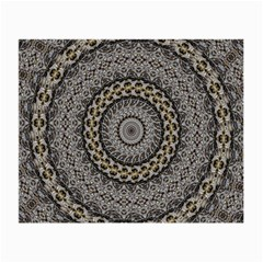 Celestial Pinwheel Of Pattern Texture And Abstract Shapes N Brown Small Glasses Cloth