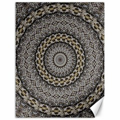 Celestial Pinwheel Of Pattern Texture And Abstract Shapes N Brown Canvas 12  x 16