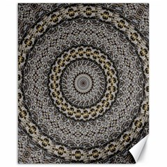 Celestial Pinwheel Of Pattern Texture And Abstract Shapes N Brown Canvas 16  x 20