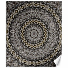 Celestial Pinwheel Of Pattern Texture And Abstract Shapes N Brown Canvas 20  x 24