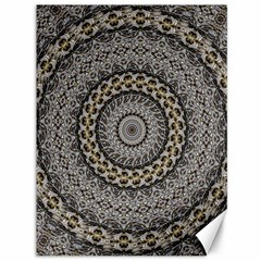 Celestial Pinwheel Of Pattern Texture And Abstract Shapes N Brown Canvas 36  x 48