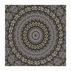 Celestial Pinwheel Of Pattern Texture And Abstract Shapes N Brown Medium Glasses Cloth (2-Side)