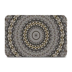 Celestial Pinwheel Of Pattern Texture And Abstract Shapes N Brown Plate Mats