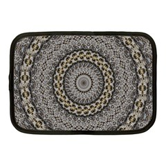 Celestial Pinwheel Of Pattern Texture And Abstract Shapes N Brown Netbook Case (medium)