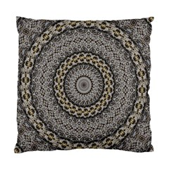 Celestial Pinwheel Of Pattern Texture And Abstract Shapes N Brown Standard Cushion Case (two Sides)