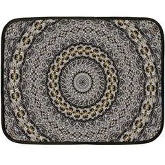 Celestial Pinwheel Of Pattern Texture And Abstract Shapes N Brown Fleece Blanket (mini)