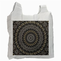 Celestial Pinwheel Of Pattern Texture And Abstract Shapes N Brown Recycle Bag (two Side)