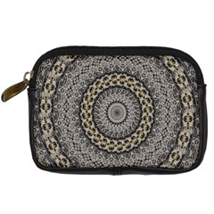 Celestial Pinwheel Of Pattern Texture And Abstract Shapes N Brown Digital Camera Cases