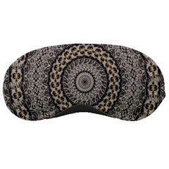 Celestial Pinwheel Of Pattern Texture And Abstract Shapes N Brown Sleeping Masks