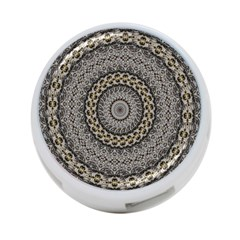 Celestial Pinwheel Of Pattern Texture And Abstract Shapes N Brown 4-Port USB Hub (Two Sides)