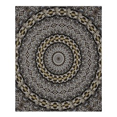 Celestial Pinwheel Of Pattern Texture And Abstract Shapes N Brown Shower Curtain 60  x 72  (Medium)