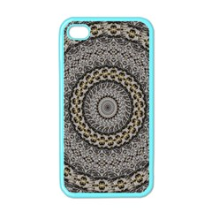 Celestial Pinwheel Of Pattern Texture And Abstract Shapes N Brown Apple Iphone 4 Case (color)