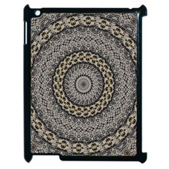 Celestial Pinwheel Of Pattern Texture And Abstract Shapes N Brown Apple iPad 2 Case (Black)