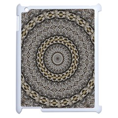 Celestial Pinwheel Of Pattern Texture And Abstract Shapes N Brown Apple Ipad 2 Case (white)